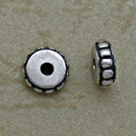 Ornate 7 mm Sterling Spacer Beads