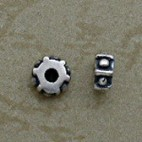 Hexagonal Sterling Silver Beads