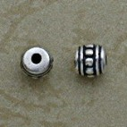 Sterling Silver 4.5 mm Ornate Beads