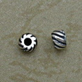 Sterling Silver Diagonal Design Beads
