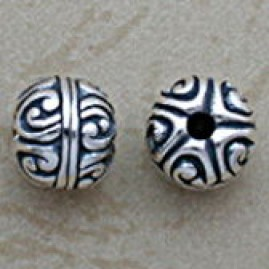 Roman sterling bead