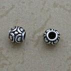 Small Swirled Round Bead