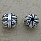 Sun flower sterling bead