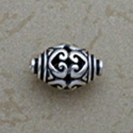 Filigree Hearts Oval Bead