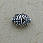 Oval Swirled Filigree Bead