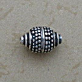 Granulation Accented Oval Bead