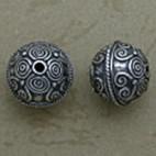 Granulated Swirled Oval Bead