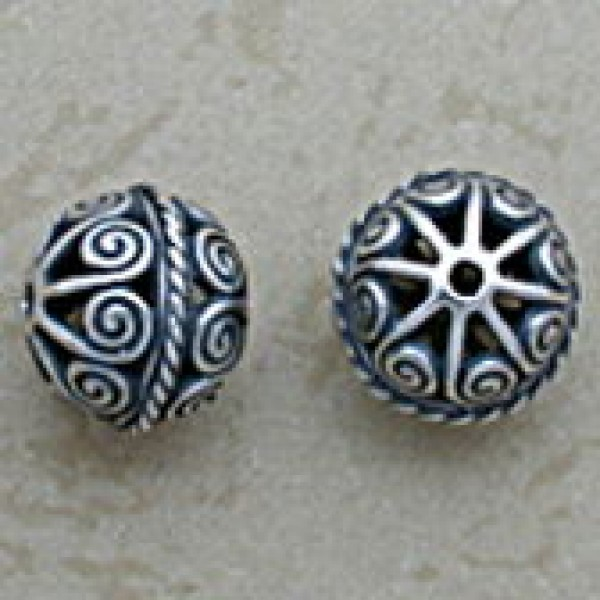 Ornate Swirled Filigree Bead