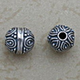 Round Bead with Swirl Motif