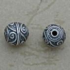 Swirled Round Bead