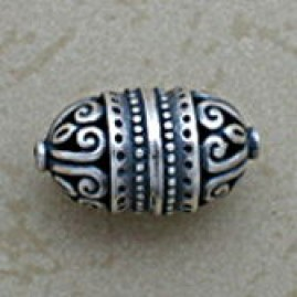 Elaborate Swirled Oblong Bead