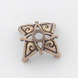 Star Bead Cap (Bronze)
