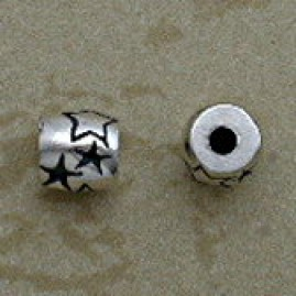 Sterling Silver Star Design 5 mm Beads