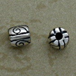 Ornate Swirl Sterling Silver Beads