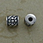 Sterling 5.5 mm Floral Design Beads
