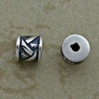 Sterling 6 mm Bamboo Design Beads