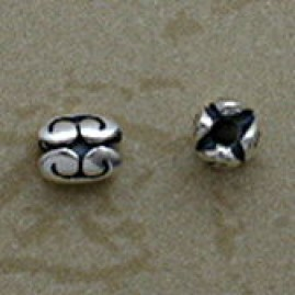 Sterling 5 mm Double Swirl Beads