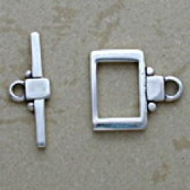 Rectangle silver toggle