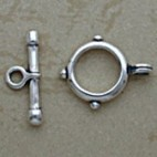 Three dots silver toggle